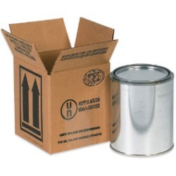 4 7/16'' x 4 7/16'' x 5''  1 - 1 Quart Haz Mat Boxes - bundle of 25