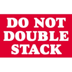 3 X 5 Do Not Double Stack Labels 500 Per Roll