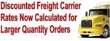 Boxes Discounted Freight Rates