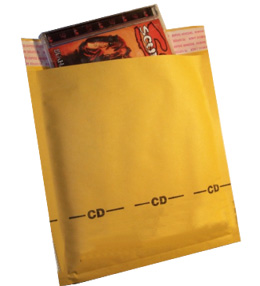 CD Size 6.5x8.5 Paper Bubble Mailers | Bubble Mailer | Padded ...