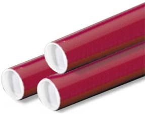 Shipping and Mailing Tubes - Red, Yellow, Blue, Green, Black and Gold