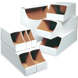9x12x4 1/2''  Stackable Bin Boxes 50ct