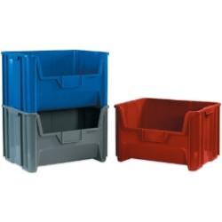 15 1/4x19 7/8x12 7/16''  Red Giant Stackable Bins 3ct