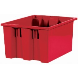14 1/2x17x9 7/8'' Red Stack & Nest Container 6ct