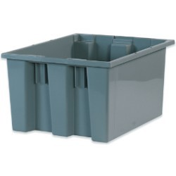 14 1/2x17x9 7/8'' Gray Stack & Nest Container 6ct
