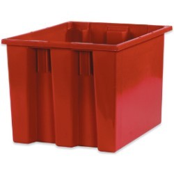 14 1/2x17x12 7/8'' Red Stack & Nest Container 6ct