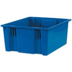 18 1/4x20 7/8x9 7/8'' Blue Stack & Nest Container 3ct
