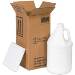 12 1/16'' x 12 1/16'' x 12 3/4''  4 - 1 Gallon Plastic Jug Shipper Kit - each