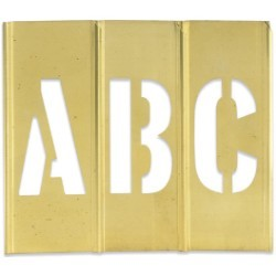 3'' Letter/Number Brass Stencils - set of 45 pieces