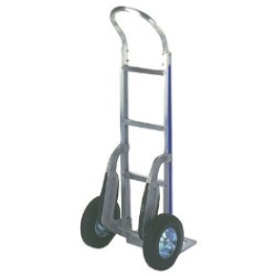 Aluminum Hand Cart - Solid Rubber Wheels - each