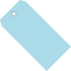 2 3/4'' x 1 3/8'' Light Blue  13 Pt. Shipping Tags - case of 1000