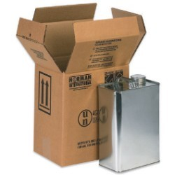 8 7/8'' x 6 5/8'' x 10 1/4''  2 - 1 Gallon F-Style Boxes - bundle of 20