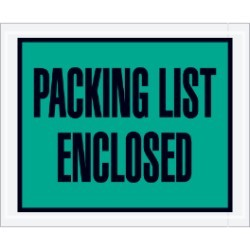 4 1/2'' x 5 1/2''  ''Packing List Enclosed'' Envelopes - case of 1000