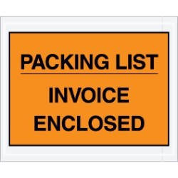 X Packing List Invoice Enclosed Envelopes Case - Invoice enclosed pouches