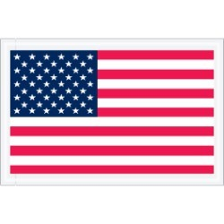 5 1/4'' x 8''  U.S.A.  Flag Packing List Envelopes - case of 1000