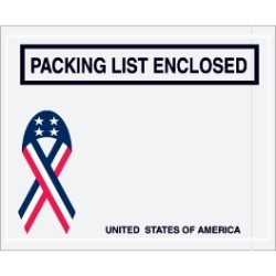 4 1/2'' x 5 1/2''  U.S.A. ''Packing List Enclosed'' Envelopes - case of 1000