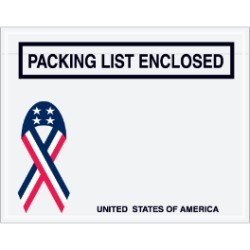 7'' x 5 1/2''  U.S.A. ''Packing List Enclosed'' Envelopes - case of 1000