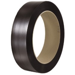 1/2'' x 4500' - 16'' x 3'' Core Polyester Strapping - Smooth - each