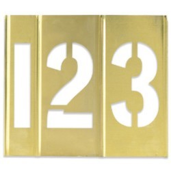 1'' Number Only Brass Stencils - set of 15 pieces