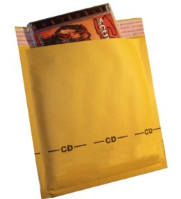CD Size 6.5x8.5'' Kraft Paper Bubble Mailers 750ct