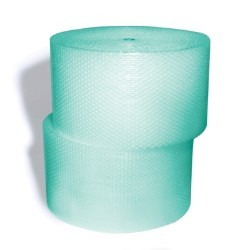 1400'x12'' Wide 3/16'' Green Small Bubble Rolls - Biodegradable