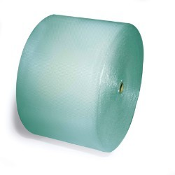 350'x24'' Wide 3/16'' Green Small Bubble Rolls - Biodegradable