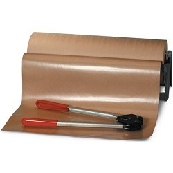 36'' Poly Coated Kraft 50# Packing Paper Roll