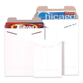 20 x 27'' (#12) Tab Close White Rigid Mailers 50ct
