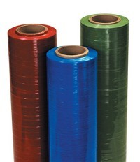 "18"" x 1500' 80 Gauge RED Cast Hand Stretch Film - 4 rolls"