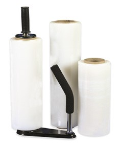 "12"" x 2000' 60 Gauge Clear Cast Hand Stretch Film - 4 rolls"
