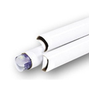 2x24 White Crimped End Tubes 50ct