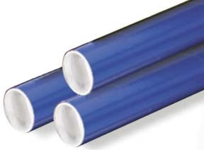 2x24'' Blue Mailing Tubes w/Caps 50ct