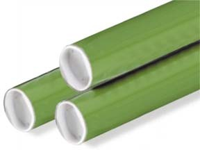 3x18'' Green Mailing Tubes w/Caps 24ct